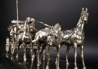 Early 20th Century English Sterling Silver Coach, National Sporting Library & Museum, Middleburg, VA